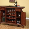 Bourbon Street Yorktown Cherry Traditional Bar with Black Granite Top