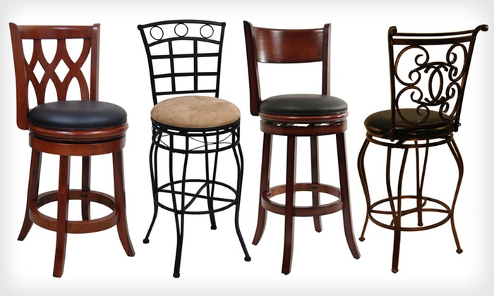 Boraam Industries Barstools: Boraam Industries Wood and Metal Barstools (Up to 56% Off). 14 Options Available. Free Shipping and Free Returns.