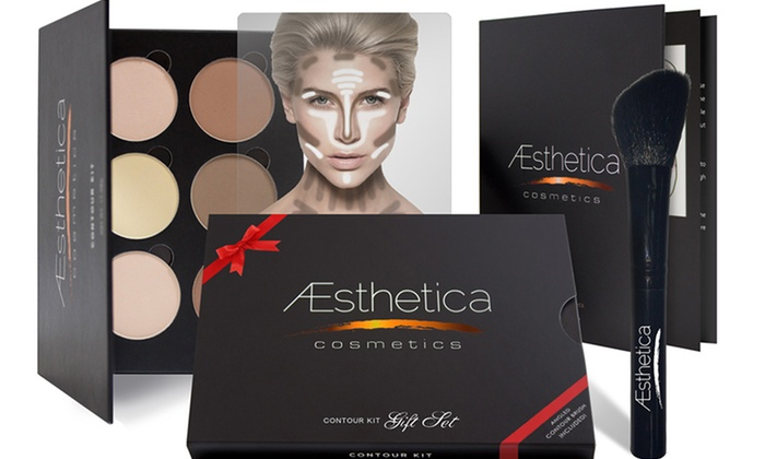 contour makeup kit walmart. aesthetica cosmetics contouring kits: kit or gift set with angled contour brush makeup walmart