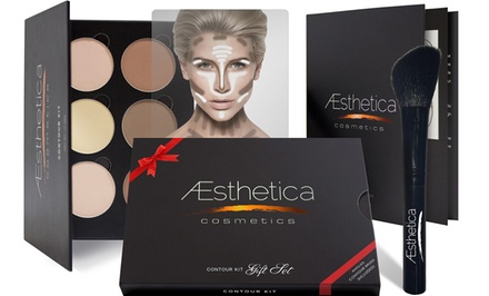 Aesthetica Cosmetics Contouring Kit or Gift Set with Angled Contour Brush from $19.99-$24.99