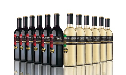 12 Bottles of Don Simon Wine in Red, White or a Mixed Case for £41.99 With Free Delivery (66% Off)