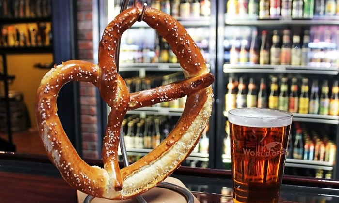 World of Beer - The Arboretum: Tavern Food for Two or Four at World of Beer (Up to 44% Off)