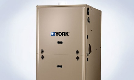 York Furnace with Installation from Cosmopolitan Mechanical Services (Up to 50% Off). 3 Sizes Available.