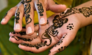 Blanche Beauty Salon & Henna: Henna Designs on Hands and Feet Plus Extra Tattoo from AED 49 at Blanche Beauty Salon