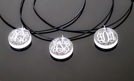 Custom Lucite Monogram Pendant from LilyDeal.com