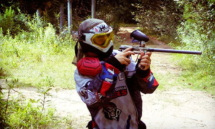 Georgina Paintball - Georgina Paintball: All-Day Paintball Session for Two or Four with Rental Guns and Paintballs at Georgina Paintball (Up to 71% Off)