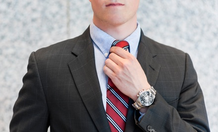 Custom Suit Package or Two or Four Custom Egyptian-Cotton Shirts at Bunbury Custom Clothiers (Up to 63% Off)
