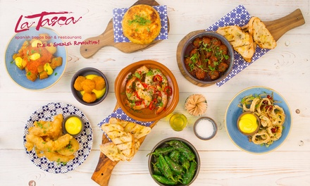 La Tasca: £30 or £50 Toward Spanish Food, Five Locations