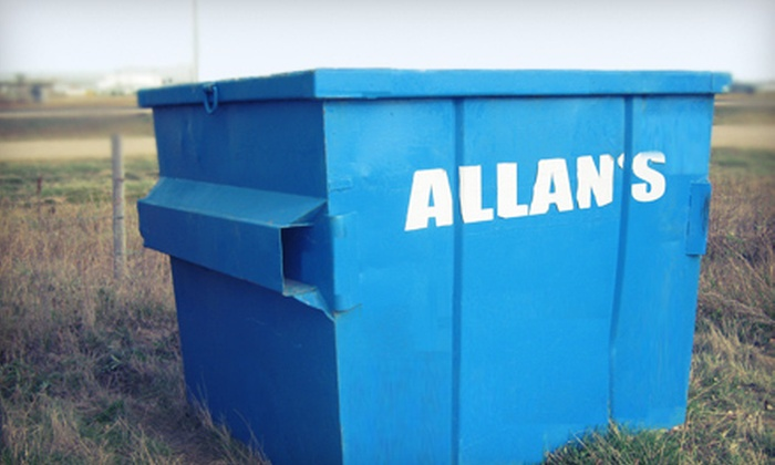 Allans Disposal Services Ltd. - Saskatoon: $129 for a 6-Yard Disposal Open Bin with Drop-Off and Pickup from Allans Disposal Services Ltd. ($262.50 Value)