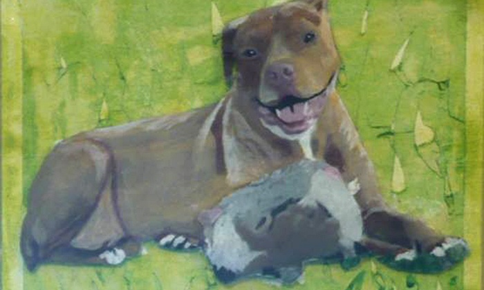 Jaboo Studios - Fairfield County: Custom Acrylic Painting of Your Pet from Jaboo Studios (Up to 74% Off). Four Options Available.