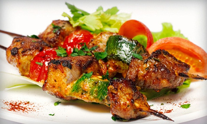 Mavi Meze Grill - Edgewater: Turkish Dinner for Two or Four at Mavi Meze Grill (Up to 54% Off)