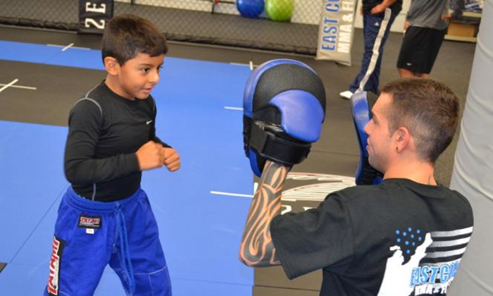 East Coast MMA & Fitness - Hicksville: 5 or 10 Beginning MMA Classes for Ages 5 and Older, or 5 or 10 Adult Classes at East Coast MMA & Fitness (Up to 56% Off)