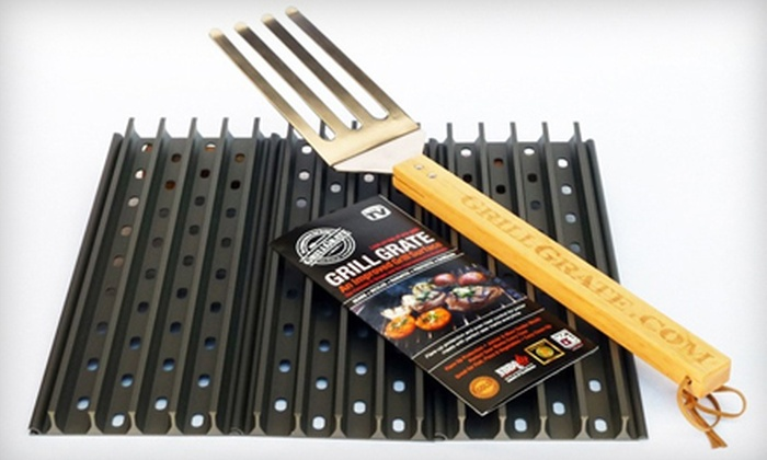 GrillGrates with The Grate Tool: Three or Four GrillGrates with The Grate Tool (Up to 44% Off)