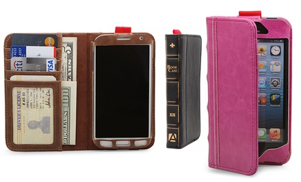 Aduro BookCase Folio and Wallet for iPhone 5 or Samsung Galaxy S4. Multiple Colors Available. Free Returns.