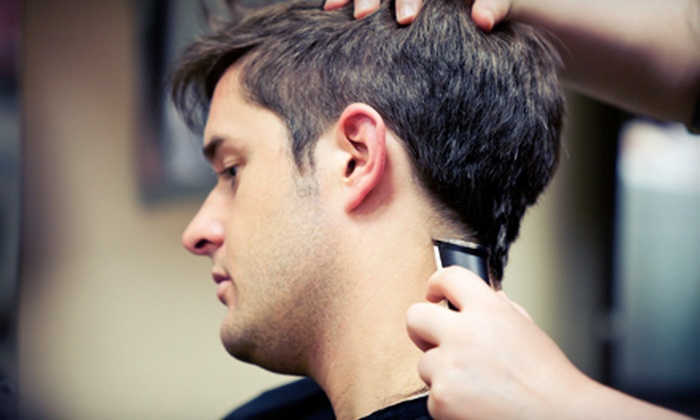 Cowboy Up Men's Salon - Multiple Locations: Lone Star Cut with Optional Detox Facial at Cowboy Up Men's Salon (Up to 51% Off)
