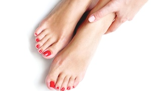 Glowing Day Spa: One or Two Glowing Manicures and Ritual Glowing Pedicures at Glowing Day Spa (53% Off)