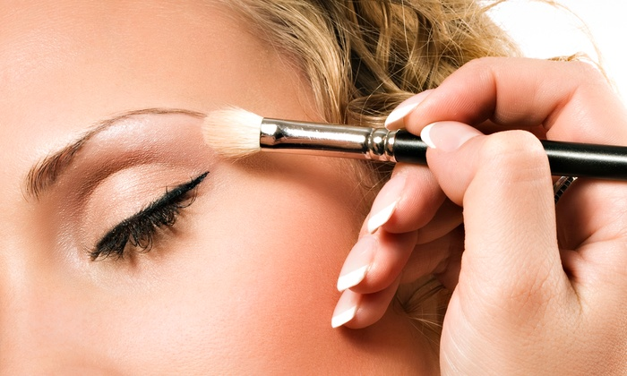 All Dolled Up - Bridgeport: Foundation or Airbrush Makeup Application with Stripped Eyelash Application at All Dolled Up (Up to 63% Off)