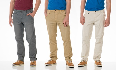 Seven7 Flat Front Twill Basic Men's Pants.