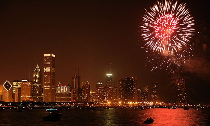 Island Party Boat - Chicago Lakefront: $39 for a Two-Hour Wednesday-Night Fireworks Cruise from Island Party Boat ($75 Value)