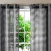 Sheer Lattice Grommet Window-Panel Pairs