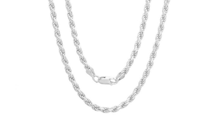 chain sterling cut chains p diamond silver v gauge solid rope necklace diamondcut