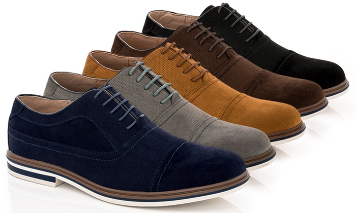 Franco Vanucci Dexter-1 Men's Casual Suede Oxford Shoes