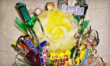 Small Candy Bouquet Formed from 15 or More Pieces of Candy (a $25 value) - Edin's Candy Bouquet in Heartland