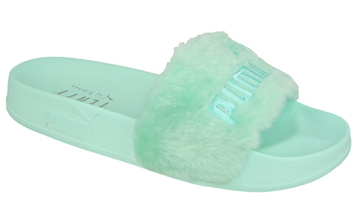 online store 404d9 4456c Up To 30% Off Puma Fenty Women's Sliders | Groupon