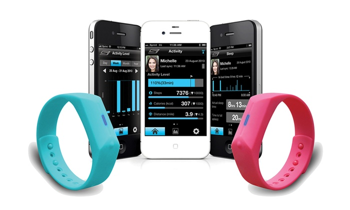 Skechers GOwalk Activity Trackers : Skechers GOwalk Activity Tracker Wristband with App
