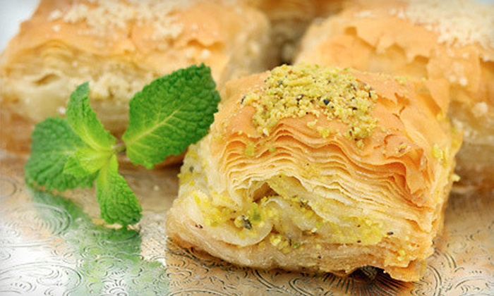The Baklava Factory - Multiple Locations: 1, 2, or 5 Pounds of Baklava at Baklava Factory (50% Off)