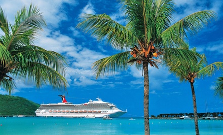 Groupon Deal: 3-, 4-, or 5-Night Caribbean Cruise with Onboard Credit from Carnival. Price per Person Based on Double Occupancy.