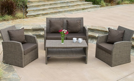 Christopher Knight 4-Piece Outdoor Seating Set