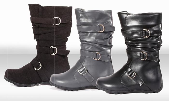Carrini Kids' Faux-Suede or PU Boots: Carrini Kids' Faux-Suede or PU Boots. Multiple Colors Available. Free Returns.