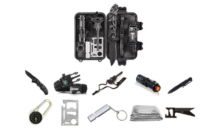 10-in-1 Essential Emergency Survival and Camping Kit