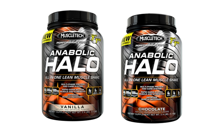 Anabolic Halo All-In-One Lean Muscle Supplement Shake: Anabolic Halo All-In-One Lean Muscle Supplement Shake. Two Flavors Available. Free Shipping.