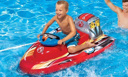 Banzai Motorized Inflatable Boat Groupon Goods