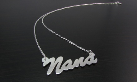 Mini Hanging Name Necklaces from NameJewelrySpot.com (75% Off)