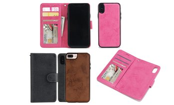 Suède wallet cases voor iPhone's