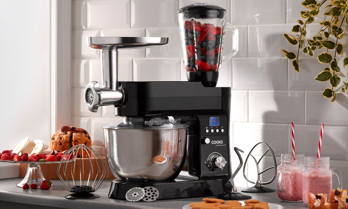 Cooks Professional 1200W Retro-Style Digital Stand Mixer with Optional Accessories