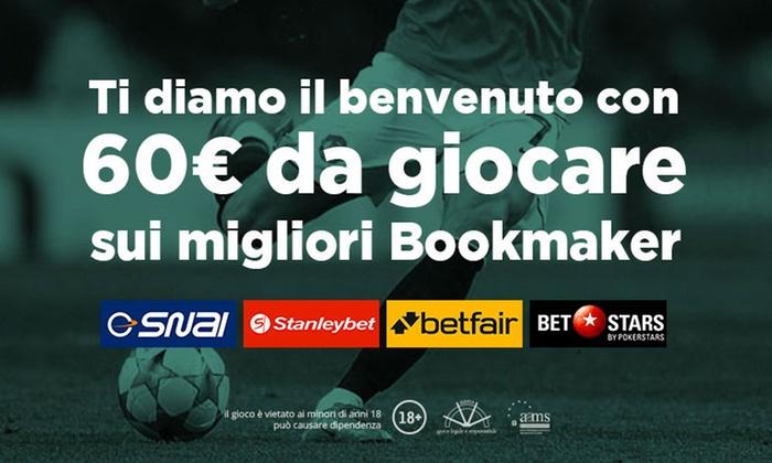 Superscommesse - Bonus scommesse sportive: Superscommesse.it: fino a 60€ di bonus sui migliori bookmaker per Serie A, Champions ed Europa League