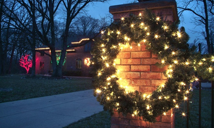 Landscape Illumination - Chicago: Professional Holiday-Lighting Package with Optional Wreath and Garland from Landscape Illumination (Up to 57% Off)