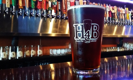Two Draft Beers Each for Two or Four at House for Beer (Up to 43% Off)