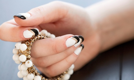 Deluxe Mani-Pedi with Nail Art for One or Two at Queen Nails and Spa (Up to 47% Off)