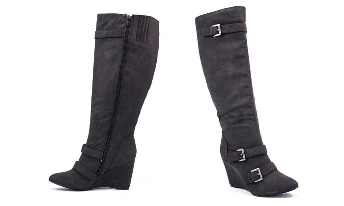 Lane Bryant Women's Wide-Width Wedge Boots: Lane Bryant Women's Wide-Width Wedge Boots