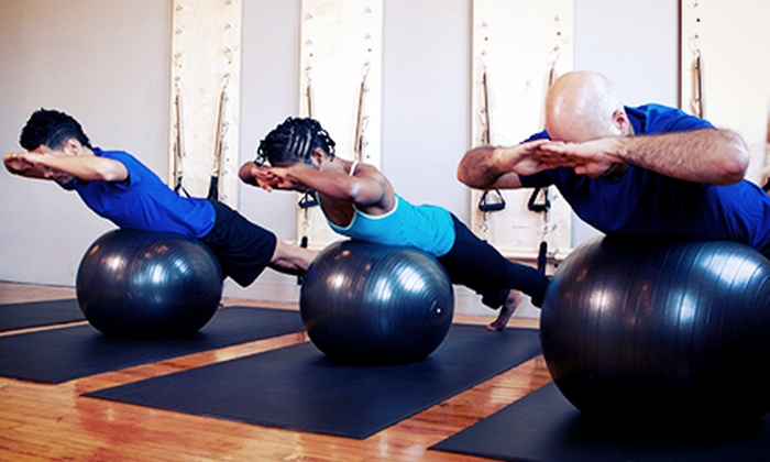 oneBody - Goose Island: 10 Group Pilates Classes or 5 Group Equipment Pilates Classes at oneBody (Up to 87% Off)