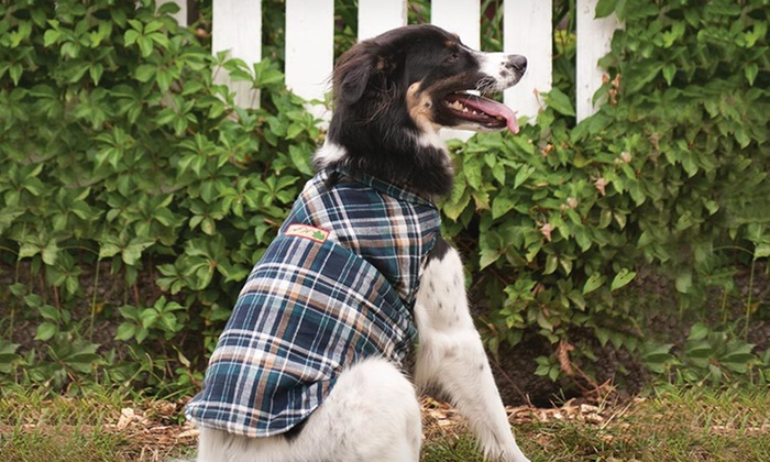Outdoor Dog Adirondack Jacket: $11.99 for an Outdoor Dog Adirondack Plaid Jacket (Up to $32.99 List Price). Three Sizes Available. Free Returns.