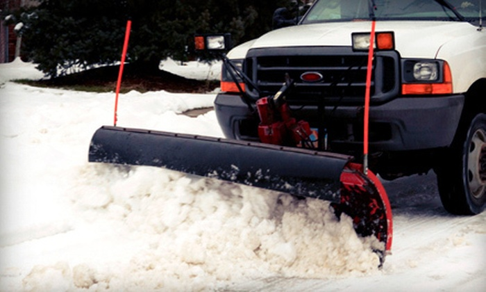HMK Landscaping - Lansing: Two or Four Snowplowing Sessions for a Single or Double Driveway from HMK Landscaping (Up to 52% Off)