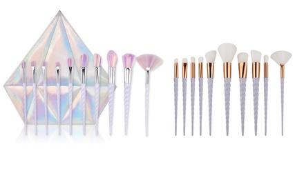 TenPiece Unicorn Makeup Brushes Set with Diamond Bag