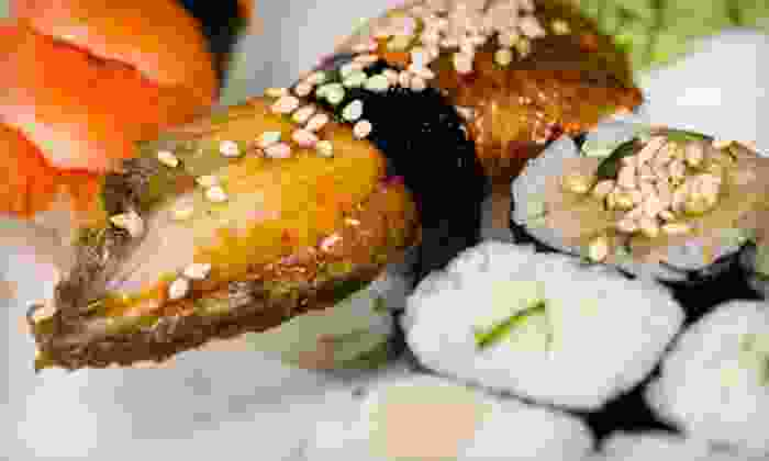 Oki Japanese Steak House - North Providence: Hibachi-Style Cuisine and Sushi at Oki Japanese Steak House (Up to 53% Off). Two Options Available.