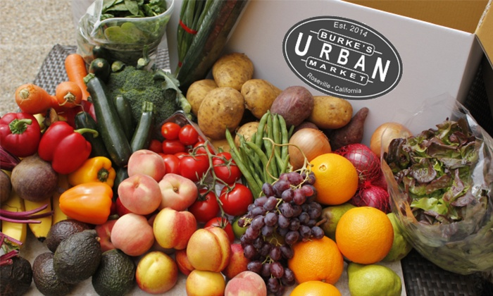 Burke's Urban Market - Sacramento: One Small or Large Box of Organic Produce Delivery from Burke's Urban Market (Up to 68% Off)